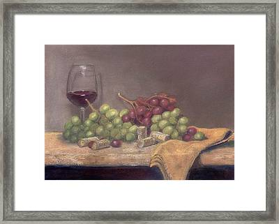 Wine Tasting Framed Print by Ellen Minter