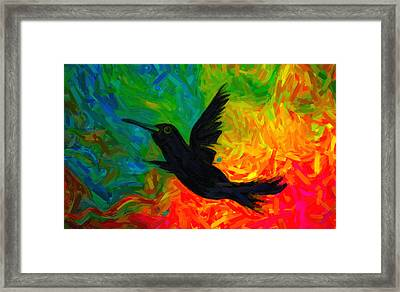 Winged Being Framed Print by Celestial Images