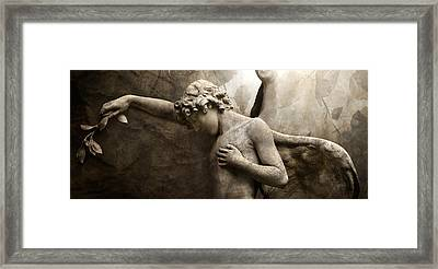 Wings Of Mourning Framed Print by Marc Huebner