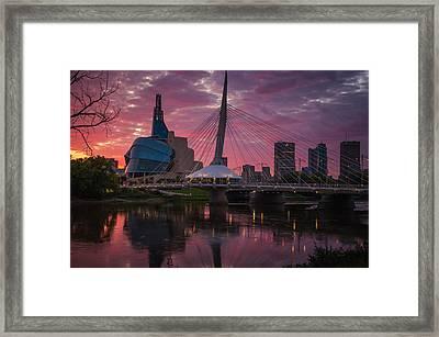 Winnipeg Sunset Framed Print