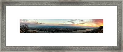 Winona Sunrise Panorama Framed Print