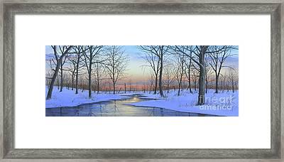 Winter Calm Framed Print
