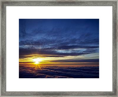 Framed Print featuring the photograph Winter Dawn Over New England by Greg Reed