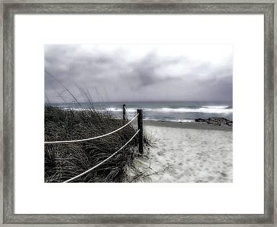 Winter Day At The Beach Framed Print by Julie Palencia