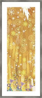 Winter Dress Detail Framed Print