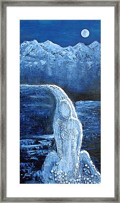 Framed Print featuring the mixed media Winter Goddess by Angela Stout