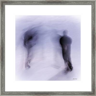 Winter Illusions On Ice - Series 3 Framed Print