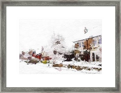 Winter In Our Street Framed Print by Steve K