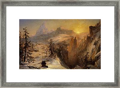 Winter In Switzerland Framed Print by Jasper Francis Cropsey