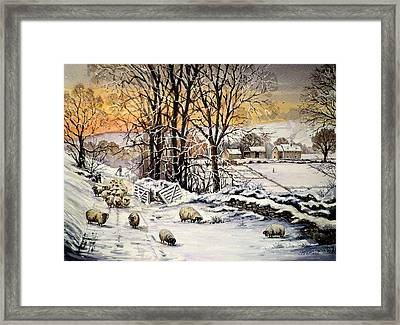 Winter In The Ribble Valley  Framed Print