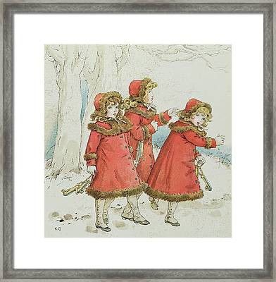 Winter Framed Print by Kate Greenaway
