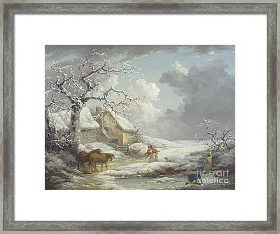 Winter Landscape Framed Print by Pg Reproductions