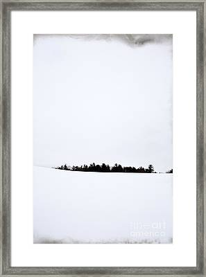 Winter Minimalism Framed Print by Edward Fielding