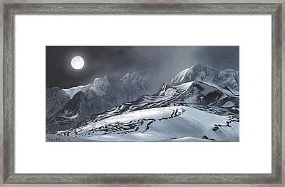 Winter Moon Framed Print