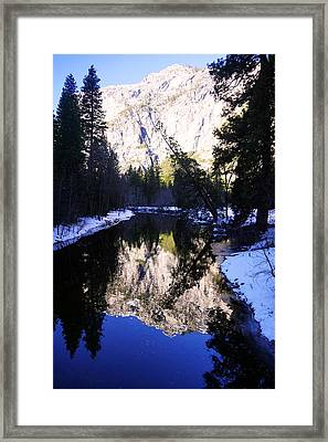 Winter Reflection Framed Print by Michael Courtney