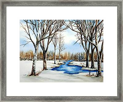 Framed Print featuring the painting Winter Respite by Thomas Kuchenbecker