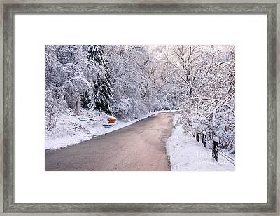 Winter Road After Snowfall Framed Print