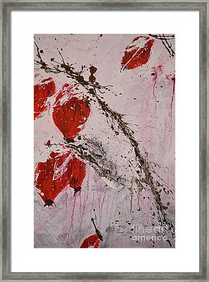 Winter Rose Hip -abstract Framed Print by Ismeta Gruenwald
