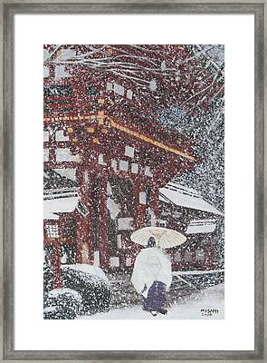 Winter Scene From Japan Framed Print