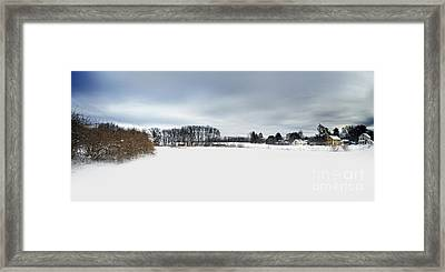 Winter Scenic Framed Print by HD Connelly