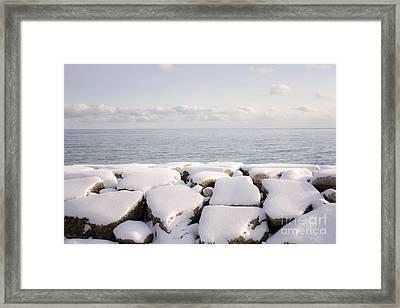 Winter Shore Of Lake Ontario Framed Print by Elena Elisseeva