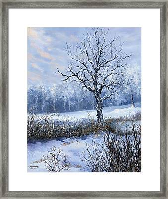 Framed Print featuring the painting Winter Slumber by Lynne Wright