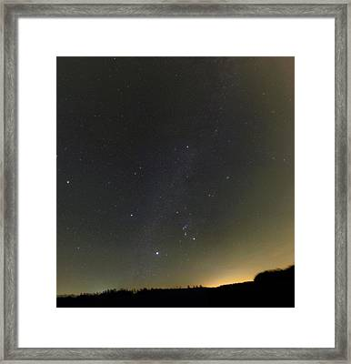 Winter Stars And Light Pollution Framed Print by Eckhard Slawik
