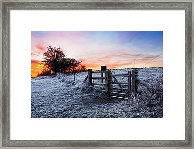 Winter Sunrise Framed Print by Graham Custance