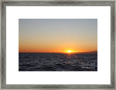Winter Sunrise Over The Ocean Framed Print by John Telfer