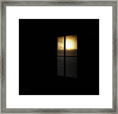 Winter Sunset Framed Print by Cynthia Lassiter