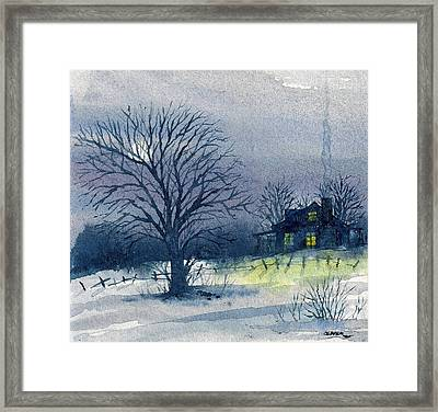Framed Print featuring the mixed media Winter Tree by Tim Oliver