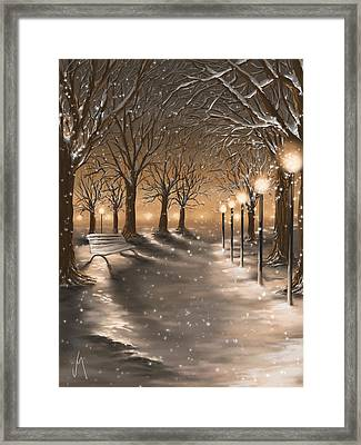 Winter Framed Print by Veronica Minozzi