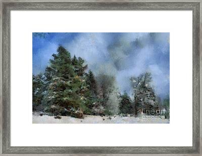 Wintery Landscape Framed Print
