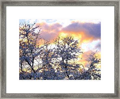Wintry Sunset Framed Print by Will Borden