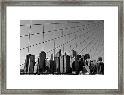 Wired City Framed Print