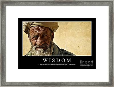 Wisdom Inspirational Quote Framed Print