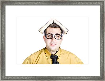 Wise Man With Book On His Head Framed Print by Jorgo Photography - Wall Art Gallery