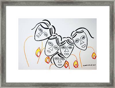 Wise Virgins Framed Print