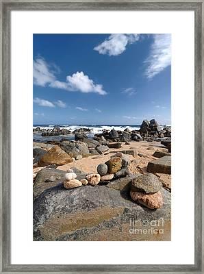 Wishing Rocks Aruba Framed Print by Amy Cicconi