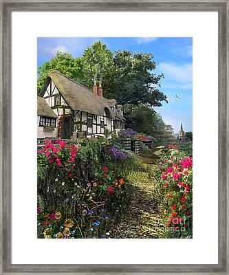 Wisteria Cottage Framed Print