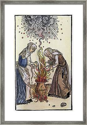 Witches, 1508 Framed Print by Granger