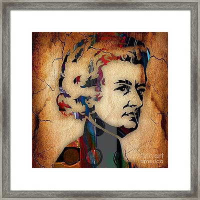Wolfgang Amadeus Mozart Collection Framed Print by Marvin Blaine