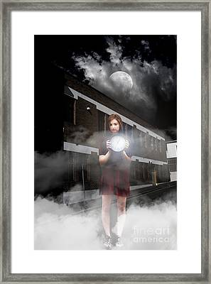 Woman After Midnight Framed Print
