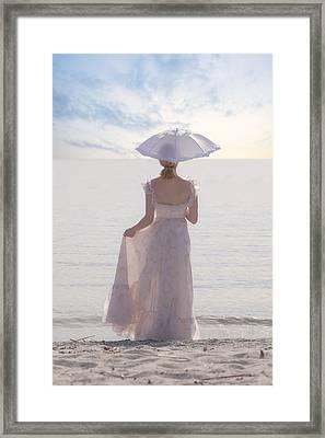 Woman At The Beach Framed Print by Joana Kruse