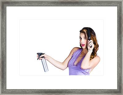 Woman Brushing Her Hair  Framed Print by Jorgo Photography - Wall Art Gallery