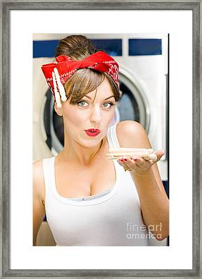 Woman Doing Washing Framed Print by Jorgo Photography - Wall Art Gallery
