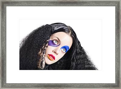 Woman In Colorful Fashion Make Up Framed Print by Jorgo Photography - Wall Art Gallery