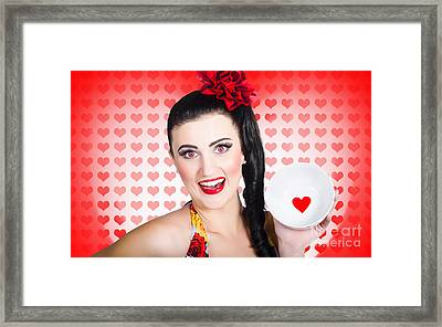 Woman In Love On A Valentine Dinner Date Framed Print by Jorgo Photography - Wall Art Gallery