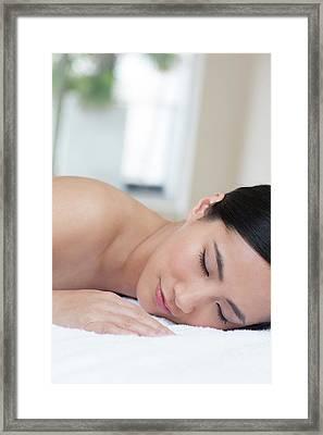 Woman Sleeping Framed Print by Ian Hooton