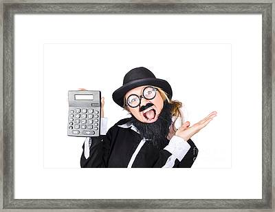 Woman Tax Accountant Framed Print by Jorgo Photography - Wall Art Gallery